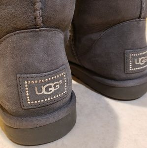 UGG classic short bling suede